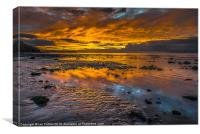 Aberaeron Beach Sunset, Canvas Print