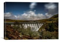 Elan Valley by Moonlight, Canvas Print