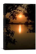 Canvus Sunset Naturally framed, Canvas Print