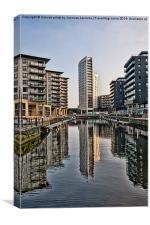 Clarence Dock , Canvas Print