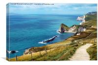 DORSET COAST, Canvas Print