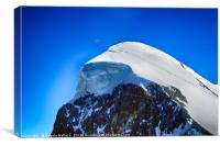 Paragliding at the Mtterhorn, Canvas Print