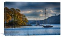 Sail boats on Windermere, Canvas Print