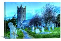 Heanton Church North Devon, Canvas Print