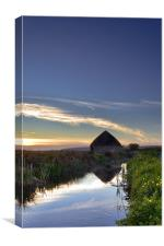 Braunton Marsh, Canvas Print