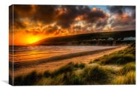 Saunton Sands North Devon, Canvas Print