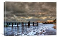 Old Groynes at Crow Point, Canvas Print