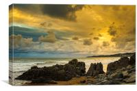 Black Rock Woolacombe Bay, Canvas Print