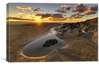 Sunset Saunton Sands North Devon, Canvas Print