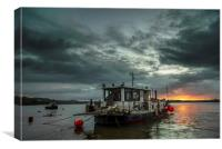 Sunrise on the River Taw, Canvas Print