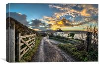 Croyde Bay at sunrise, Canvas Print
