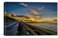 Saunton Sands sunrise, Canvas Print