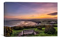 Woolacombe Bay sunrise, Canvas Print