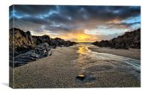 Barricane Beach, Woolacombe, North Devon., Canvas Print