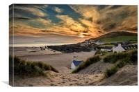 Croyde Bay Sunset, Canvas Print