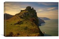 The Valley of Rocks, Canvas Print