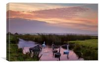 Braunron Marsh, North Devon., Canvas Print