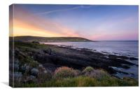 Croyde Bay sunrise, Canvas Print