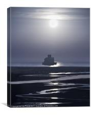 Haile Sands Fort Humberston Moonlight, Canvas Print