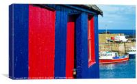 Harbour shed, Canvas Print