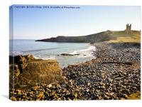 Dunstanburgh in Spring sunshine, Canvas Print