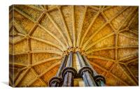 Lincoln Cathedral Chapter House, Canvas Print
