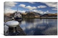 Ben Nevis and the Caledonian Canal, Canvas Print