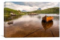 Canisp and Suilven From Loch Druim Suardalain, Canvas Print