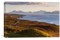Isle of Skye from the Applecross Peninsula, Canvas Print
