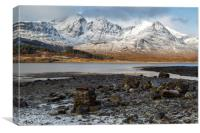 Bla Bheinn( Blaven) in the Snow, Canvas Print