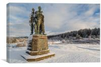 Commando Memorial at Spean Bridge, Canvas Print