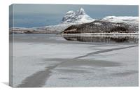 Suilven in Winter., Canvas Print