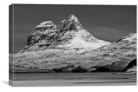 Suilven with Winter Snow, Canvas Print