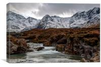 The Fairy Pools and the Cuillins Isle of Skye, Canvas Print