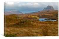 Suilven and Canisp First Snow of Autumn, Canvas Print