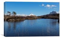 Canisp and Suilven in Winter, Canvas Print