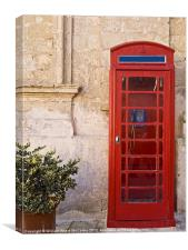 Vintage Phone Booth, Canvas Print