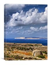 Girna in HDR, Canvas Print