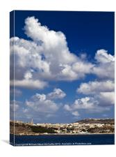Mgarr Harbour, Canvas Print