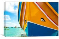 Colours of the Maltese Dghajsa, Canvas Print