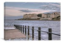 Weston seafront, Canvas Print
