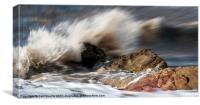 Wave on the rocks., Canvas Print