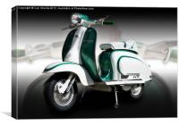 Mod scooter, Canvas Print