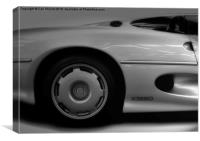 Jaguar XJ220, Canvas Print
