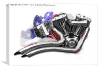 Harley v twin motor, Canvas Print