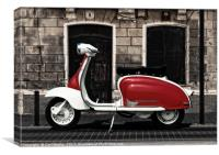 Motor Scooter, Canvas Print