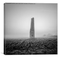 Cornish mine chimney, Canvas Print