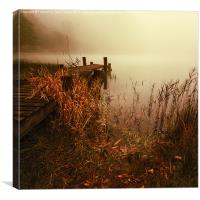Loch Ard early mist, Canvas Print