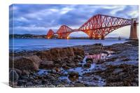 Forth Rail Bridge colour, Canvas Print