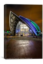 Glasgow Armadillo Scotland, Canvas Print